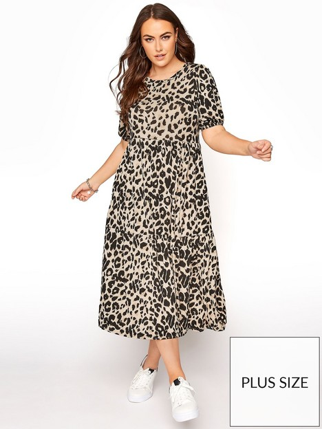 yours-yours-ss-puff-sleeve-midaxi-animal-dress-natural