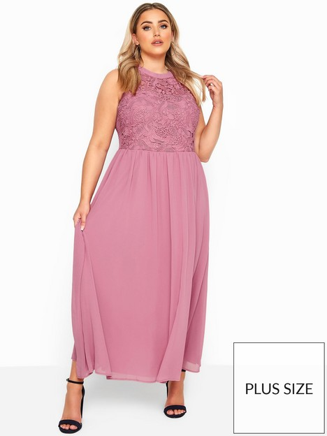 yours-yours-lace-top-chiffon-maxi-dress--nbsppink