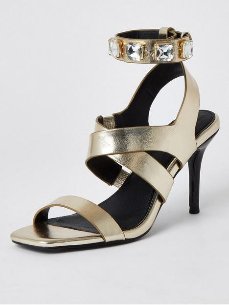 river-island-multi-strap-heeled-sandal-gold