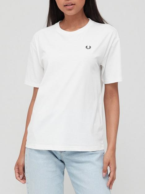 fred-perry-crew-neck-t-shirt-white