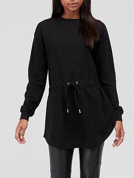 v-by-very-jerseynbspchannel-waist-sweat-tunic-black