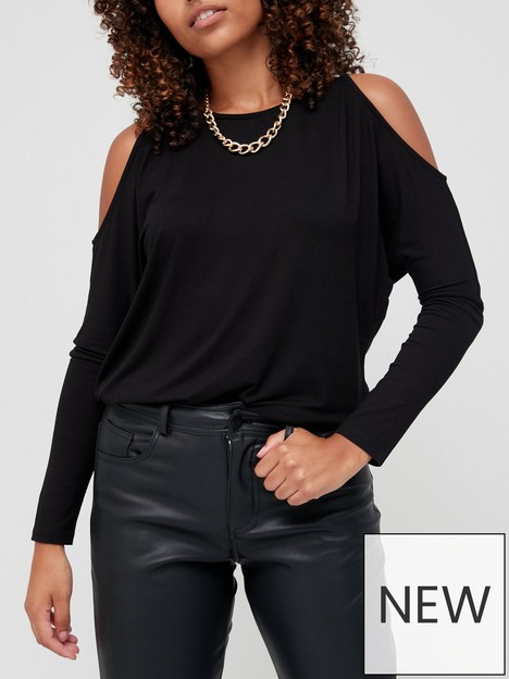 v-by-very-cut-out-cold-shoulder-long-sleeve-top-black
