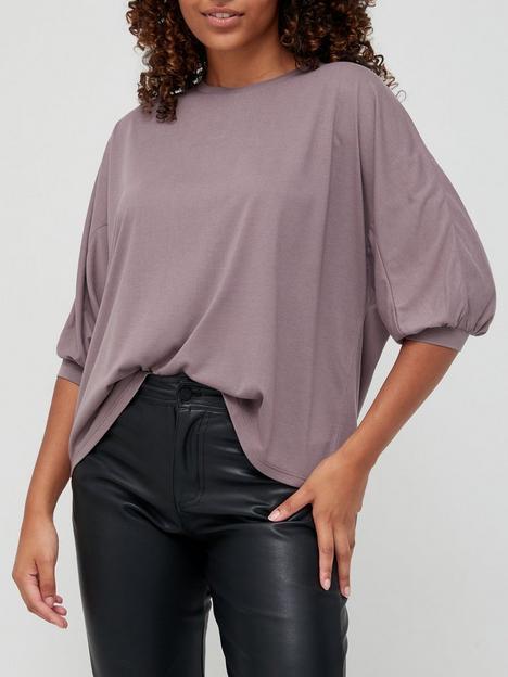 v-by-very-dip-hem-slouchy-three-quarter-sleeve-t-shirt-mauve
