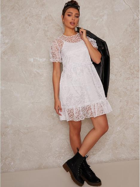 chi-chi-london-chi-chi-sheer-puff-sleeve-leopard-print-mini-dress-in-whit