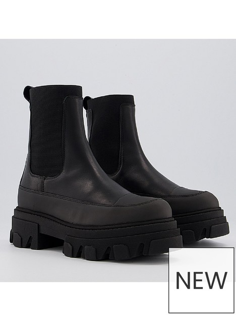 office-answering-leather-weatherproof-sole-boot-black
