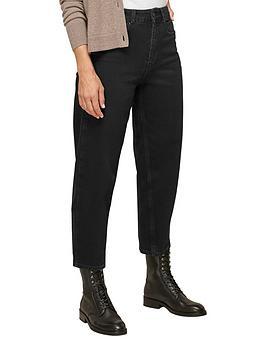 whistles-organic-high-waist-barrel-jean-black