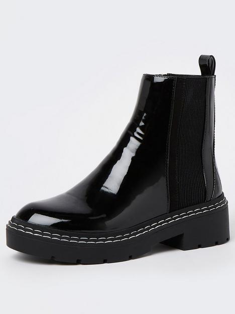 river-island-wide-fit-panelled-boot-black