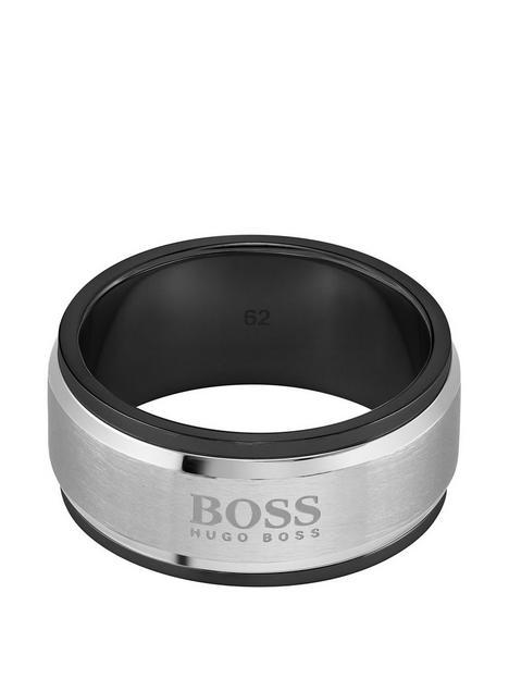 boss-stainless-black-logo-ring-large