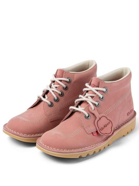 kickers-high-leather-ankle-boot-pink