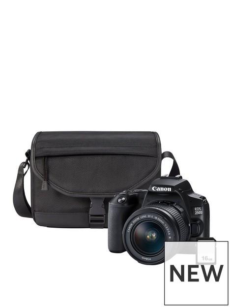 canon-canon-eos-250d-black-slr-camera-kit-inc-ef-s-18-55mm-f35-56-dc-iii-lens-sb130-shoulder-bag-16gb-sd-card