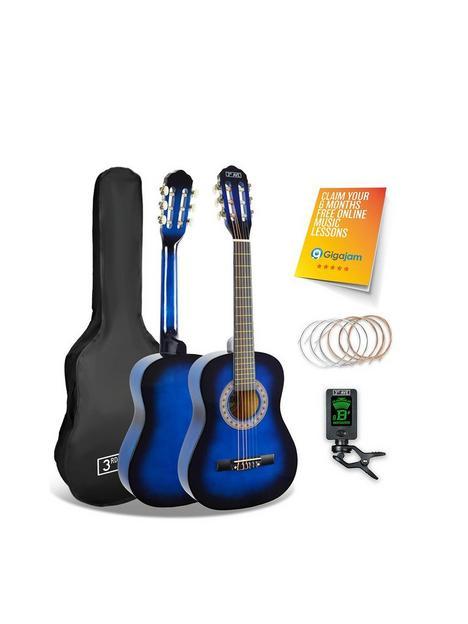 3rd-avenue-3rd-avenue-12-size-classical-guitar-pack-blueburst