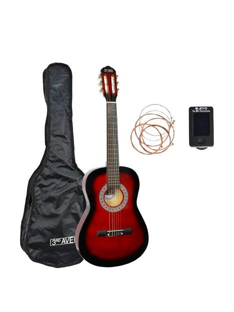 3rd-avenue-3rd-avenue-full-size-classical-guitar-pack-redburst