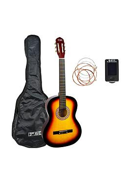 3rd-avenue-3rd-avenue-full-size-classical-guitar-pack-sunburst