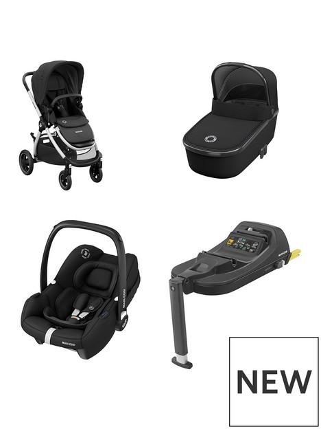 maxi-cosi-adorra-travel-system-adorra-pushchairoria-carrycottinca-car-seat-tinca-car-seat-base-essential-black