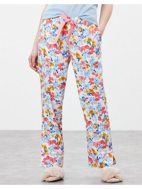 joules-joules-luna-floral-pyjama-bottoms-cream
