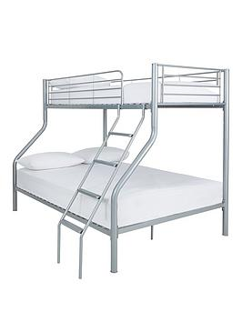 Domino Trio Bunk Bed With Optional Mattress - Bunk Bed Frame Only
