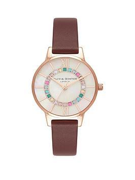 olivia-burton-burgundy-leather-watch