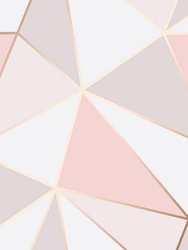 fine-dcor-fine-decor-apex-geo-rose-gold-wallpaper