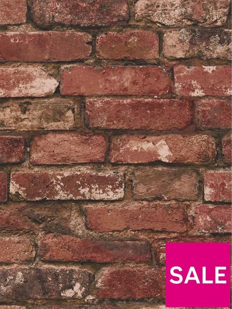 fine-dcor-rustic-red-brick-wallpaper