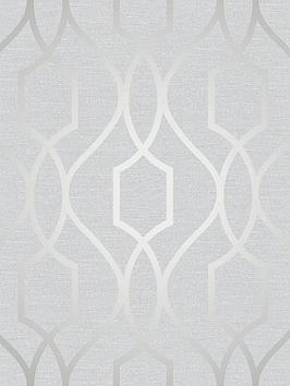 fine-dcor-fine-dcor-apex-geo-trellis-stone-silver-wallpaper
