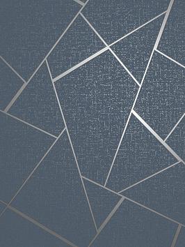 fine-dcor-fine-decor-quartz-fractal-navy-silver-glitter-wallpaper