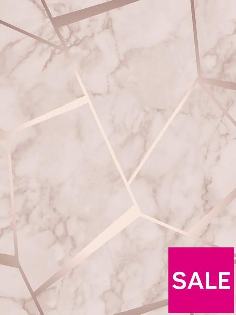 fine-dcor-fine-decor-marblesque-fractal-rose-gold-metallic-wallpaper