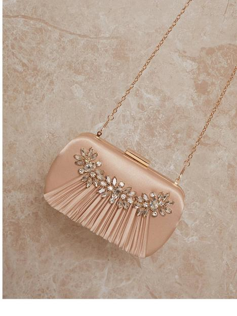 chi-chi-london-embellished-pleated-satin-clutch-bag-champagne