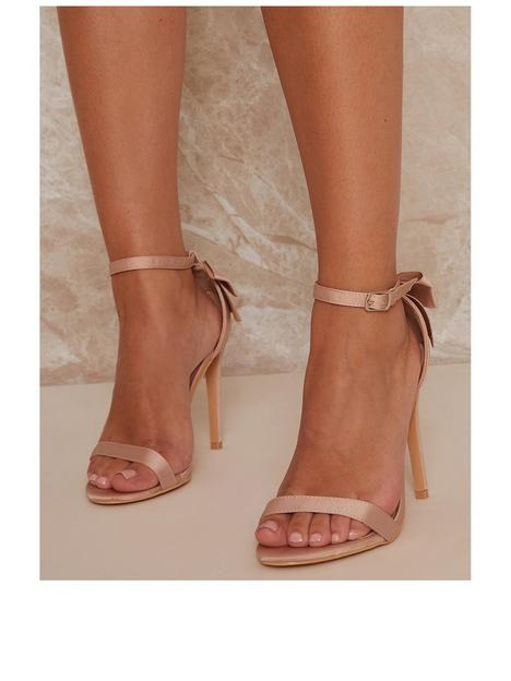 chi-chi-london-stiletto-heel-strappy-sandals-with-bow-back-champagne