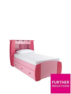 kidspace-orlando-single-bed-with-storage-shelves-and-optional-mattress