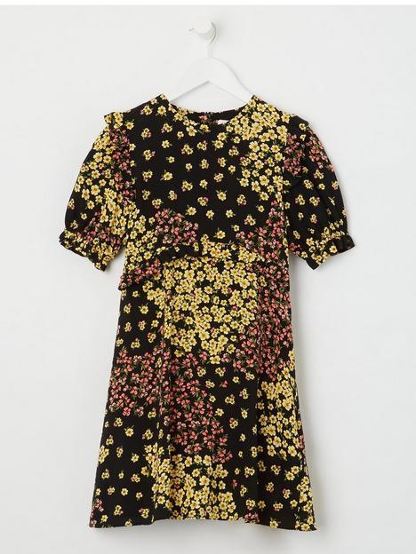 somebodys-child-girls-felicia-mini-patchwork-print-dress-black