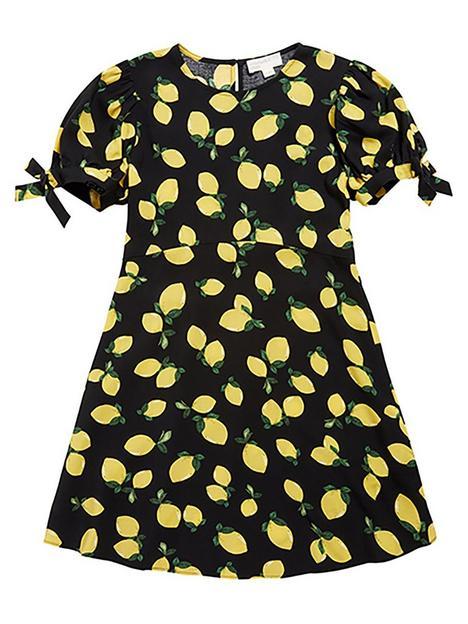 somebodys-child-girls-lemon-esme-dress-black