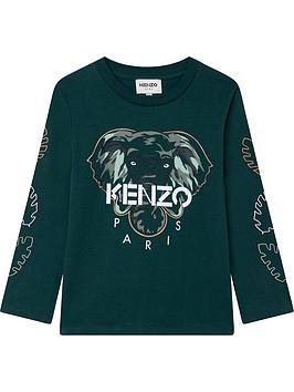 kenzo-juniornbspiconic-logo-long-sleeve-t-shirt-green