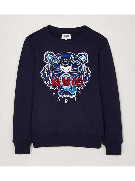 kenzo-junior-organic-embroidered-tiger-sweatshirt-navy