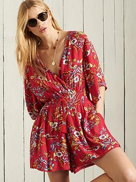 superdry-summer-playsuit--red