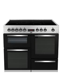 Beko Kdvc100X Freestanding 100Cm Double Oven Range Cooker, Stainless Steel