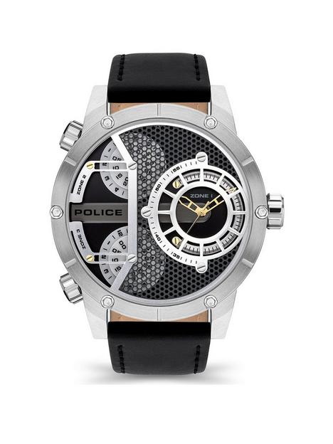 police-police-vibe-mens-watch-with-black-leather-and-black-silver-gold-dial