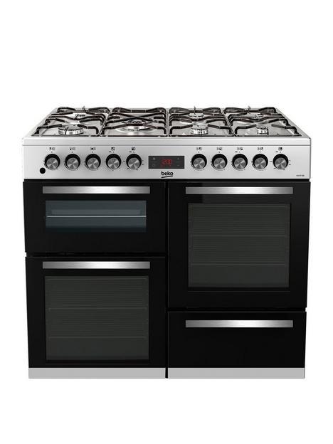beko-kdvf100xnbspfreestanding-100cm-double-oven-range-cooker-stainless-steelnbsp
