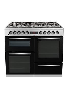 Beko Kdvf100X Freestanding 100Cm Double Oven Range Cooker, Stainless Steel