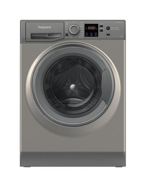 hotpoint-hotpoint-nswm944cggukn-9kg-load-1400-spin-washing-machine-graphite