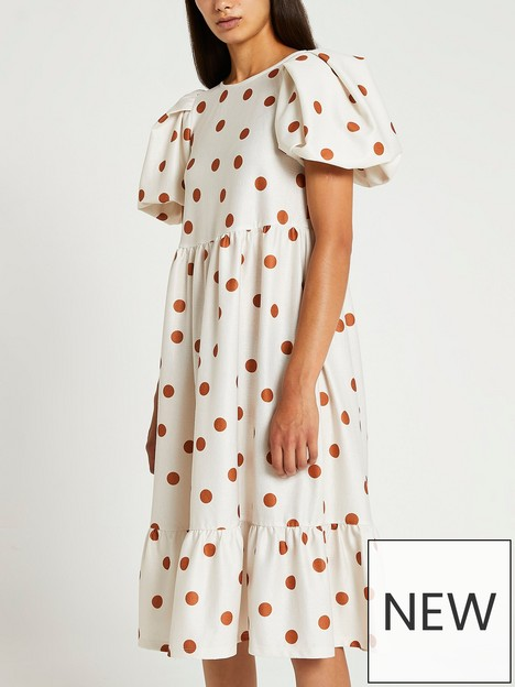 ri-petite-tie-back-puff-sleeve-midi-dress-cream