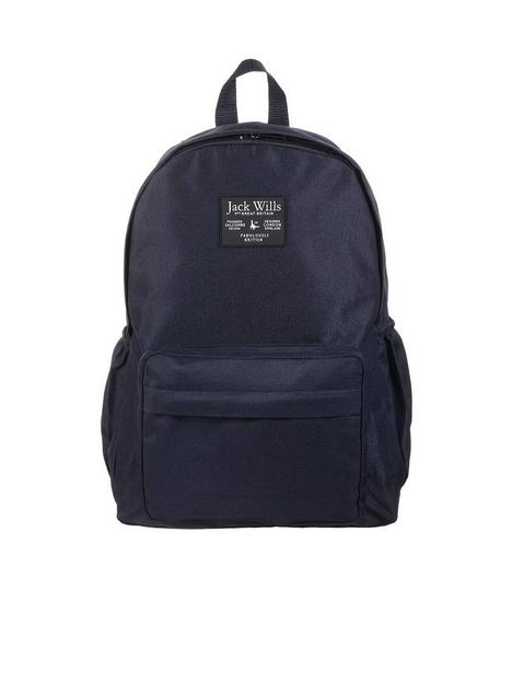 jack-wills-girls-patch-backpack-navy