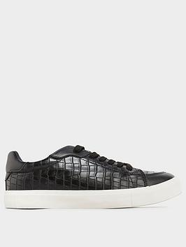 long-tall-sally-long-tall-sally-croc-lace-up-trainer-black