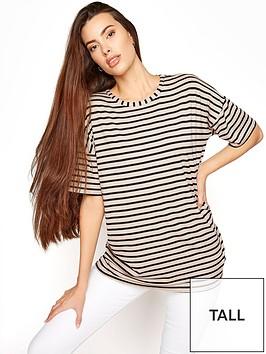 long-tall-sally-stripe-oversized-t-shirt-black