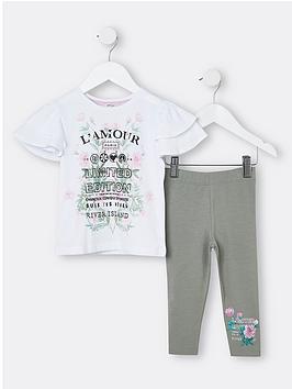 river-island-mini-mini-girls-floral-t-shirt-and-leggings-setnbsp-nbspkhaki