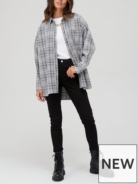 v-by-very-oversizednbspchecked-shacket-grey