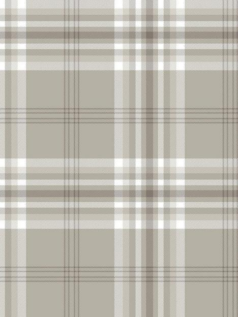 catherine-lansfield-kelso-natural-check-wallpaper