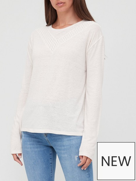 superdry-lace-detail-jersey-top-oatmeal