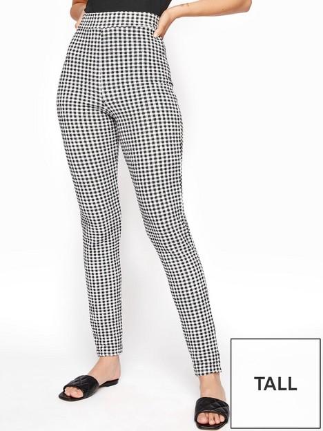 long-tall-sally-textured-gingham-trouser-black