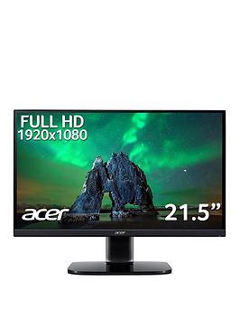 Acer Ka222Qbi 21.5In Zeroframe Freesync 1Ms 250Nits Ips Led Black Acer Ecodisplay Monitor
