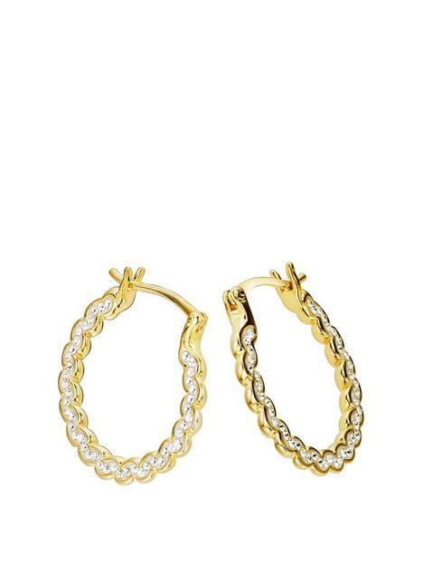 evoke-evoke-sterling-silver-gold-plated-crystal-swirl-hoop-earrings